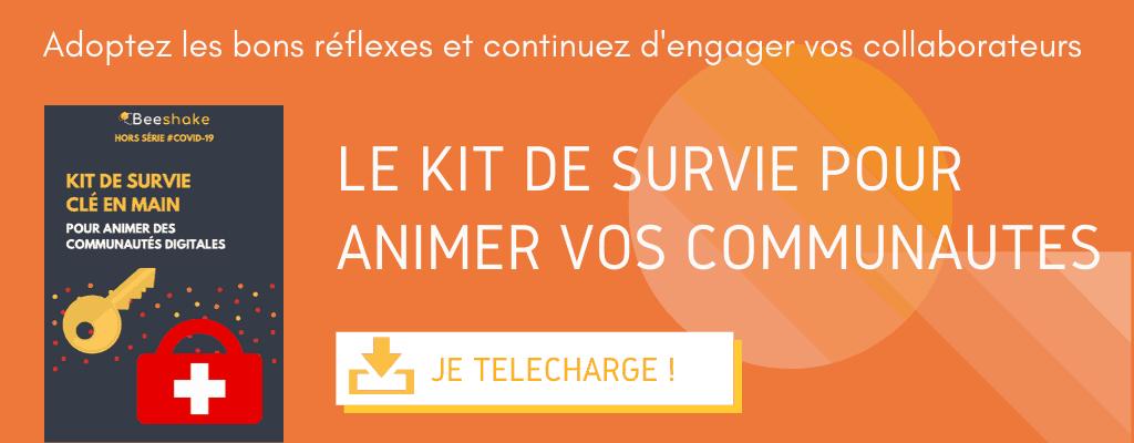 Kit de survie Beeshake - animation de communautés et intelligence collective Covid19